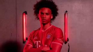 Sané, con la camiseta del Bayern