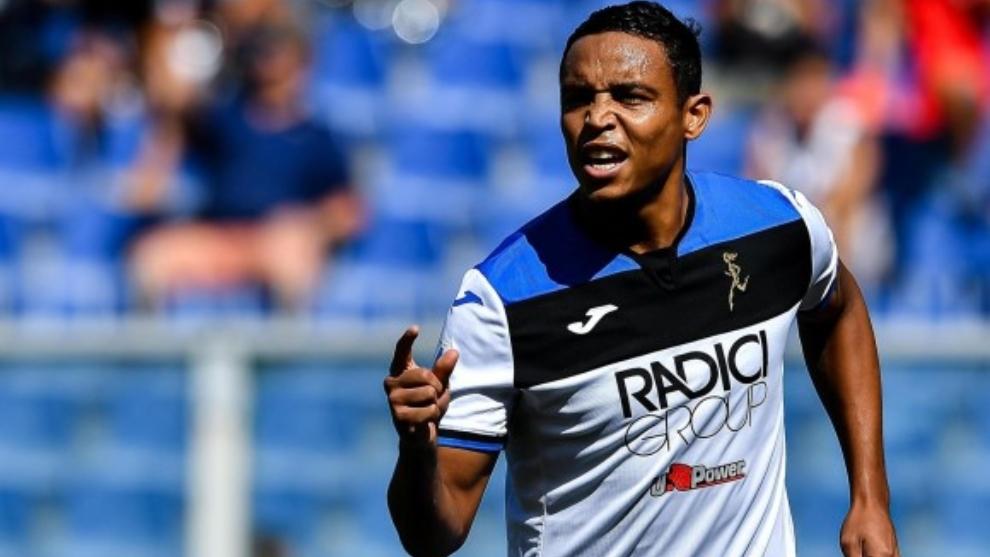 El festejo de Muriel tras abrir el marcador ante Cagliari