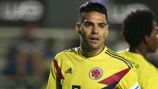 Radamel Falcao García, durante un partido con la Selección Colombia.