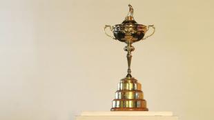 El trofeo de campeón de la Ryder Cup.