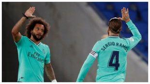 Marcelo y Sergio Ramos, durante un partido con el Real Madrid