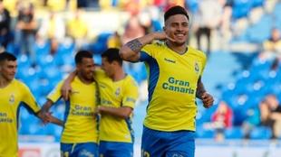 Actualmente lleva siee anotaciones con Las Palmas.