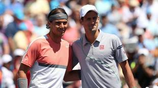Rafa Nadal junto a Novak Djokovic