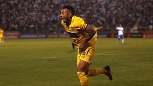 Su gol en la Copa Libertadores ante Universidad Católica.