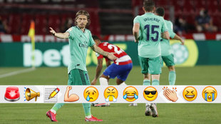 Luka Modrid, durante el partido contra el Granada.