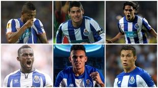 Futbolistas colombianos campeones de la Primeira Liga de Portugal con...