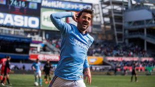 David Villa, con el New York City