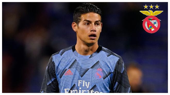 James, en un calentamiento con el Real Madrid.