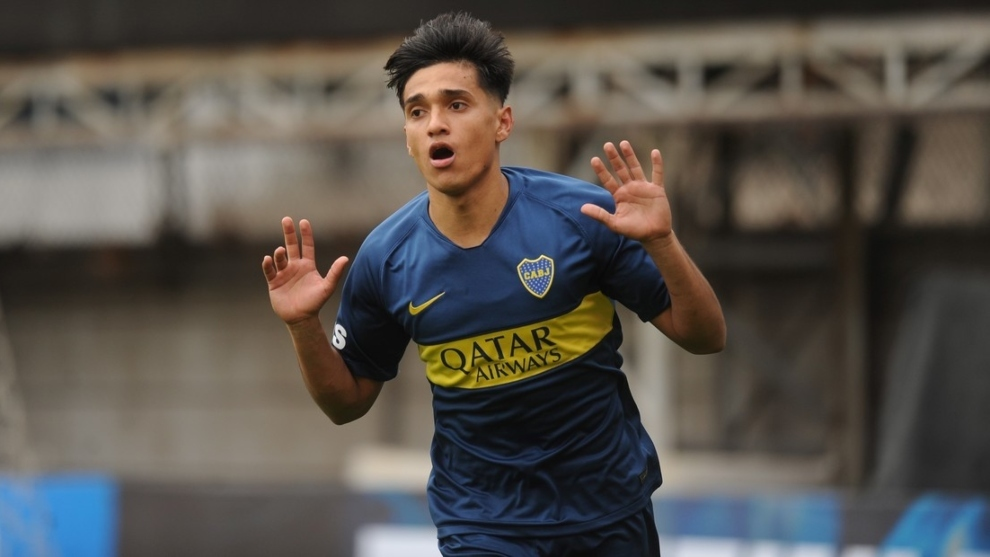 Acá, cuando jugaba en las inferiores de Boca Juniors