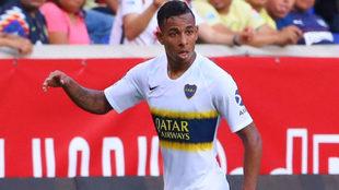 Sebastián Villa, en acción.
