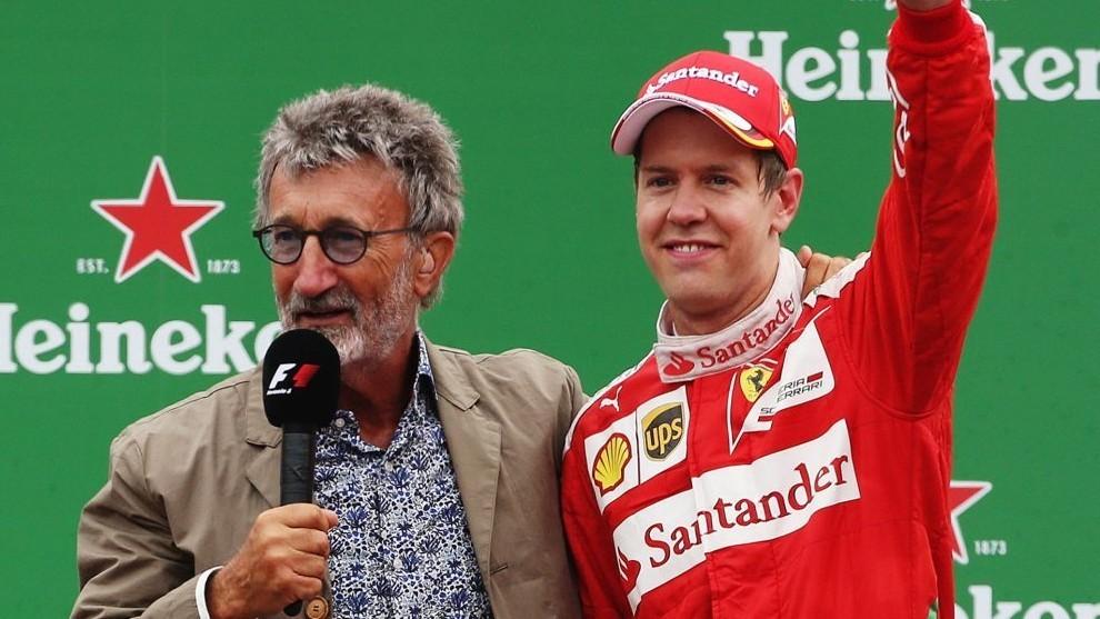 Eddie Jordan y Sebastian Vettel.