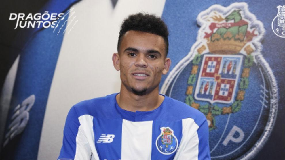 Luis Díaz en su presentación como jugador del Porto.