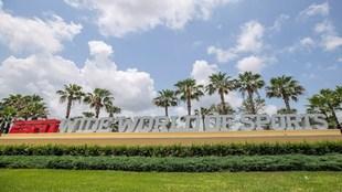 """Vista del """"campus"""" como oficialmente la NBA denomina a la..."""