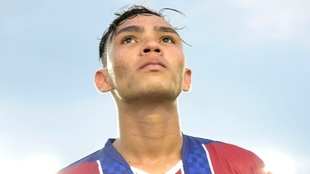 Ricardo Márquez, durante un partido de Unión Magdalena.