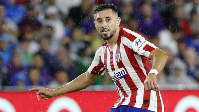 Héctor Herrera, durante un partido con el Atlético
