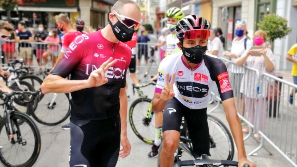 Chris Froome y Egan Bernal en la Ruta de Occitania
