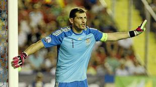 Iker Casillas con la selección española.
