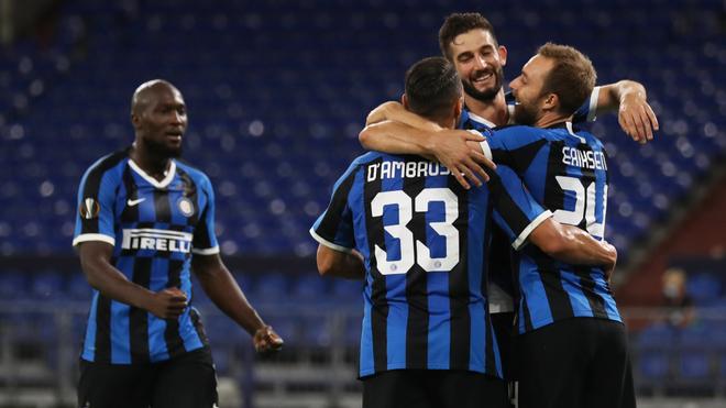 Festejo del Inter de Milán frente al Getafe en Alemania.