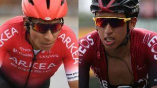 Collage de Nairo Quintana y Egan Bernal.