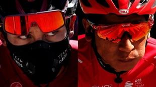 Egan Bernal y Nairo Quintana en el arranque del Tour de l'Ain