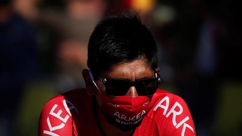NAiro Quintana, durante el Tour de l'Ain 2020.