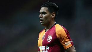 Radamel Falcao durante un encuentro con Galatasaray.