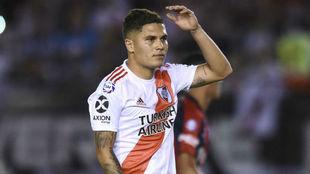 Juan Fernando Quintero en un encuentro de la última Superliga.