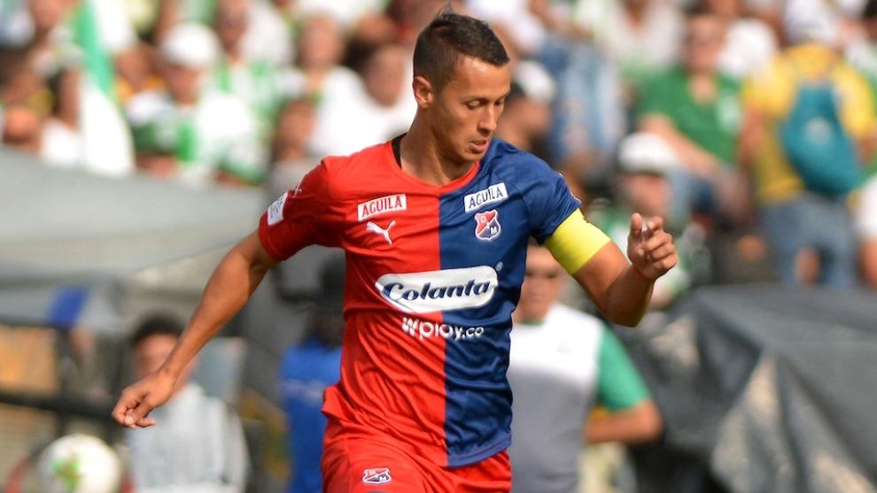 Andrés Ricaurte, durante un partido con Independiente Medellín.