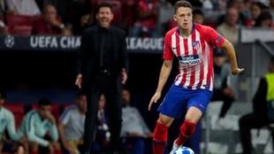 Santiago Arias, durante un partido de Champions League con el...