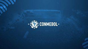 Logo oficial de CONMEBOL.