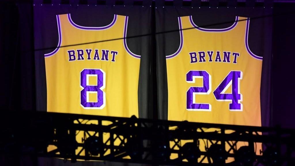 Camisetas con las que jugó Kobe Bryant a lo largo de su carrera
