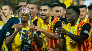 Los jugadores del Pereira festejan el título Torneo Águila 2019 I.