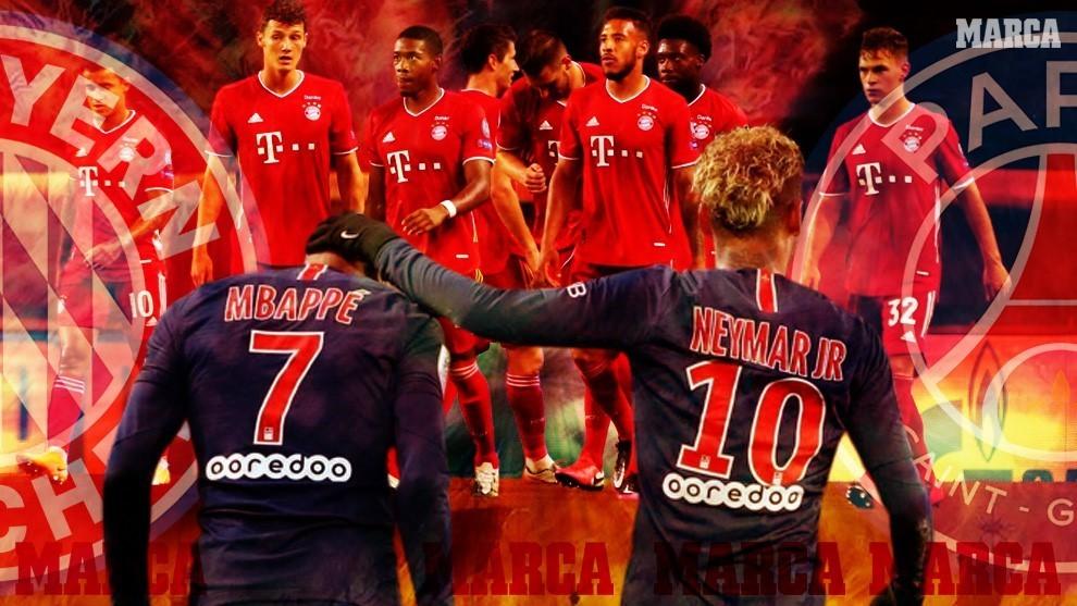 El Bayern Múnich y el PSG, frente a frente.