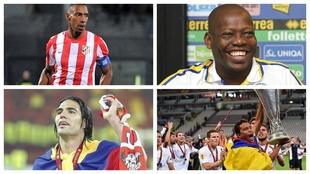 Algunos de los colombianos ganadores de la UEFA Europa League.