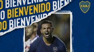 Anuncio oficial del regreso de Edwin Cardona a Boca Juniors.