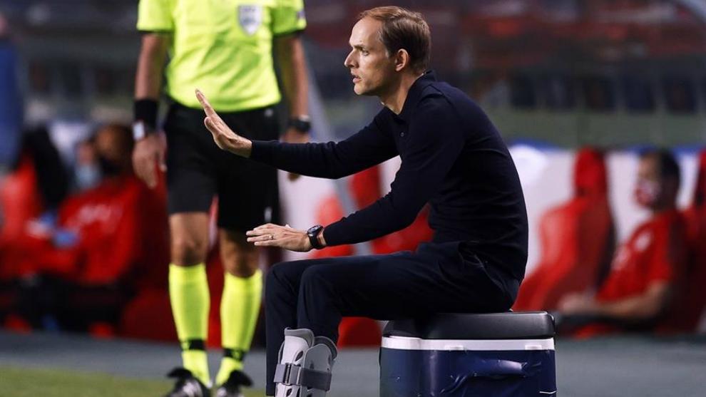 Thomas Tuchel, durante la final de la Champions League 2020.