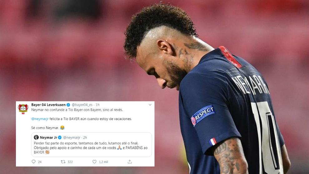 Neymar y el tweet del Bayer Leverkusen.