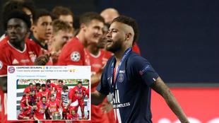 Neymar y el mensaje del Bayern Múnich.