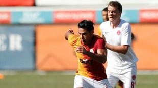 Falcao García, durante el partido amistoso contra el Umraniyespor.