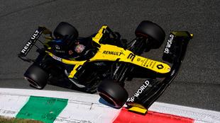 Daniel Ricciardo, durante una sesión en el GP de Italia.