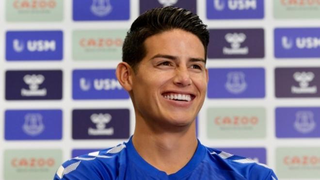 James Rodríguez, nuevo jugador del Everton.