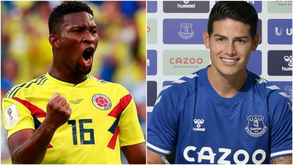 Colage de Jefferson Lerma y James Rodríguez.