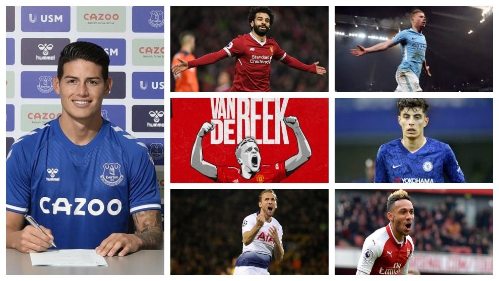 James y su Everton, vs el 'Top Six' de la Premier League.