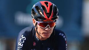 Chris Froome participa actualmente en la Tirreno-Adriático.
