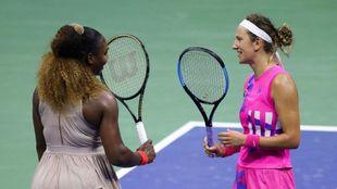 Conversación entre Serena Williams y Victoria Azarenka.