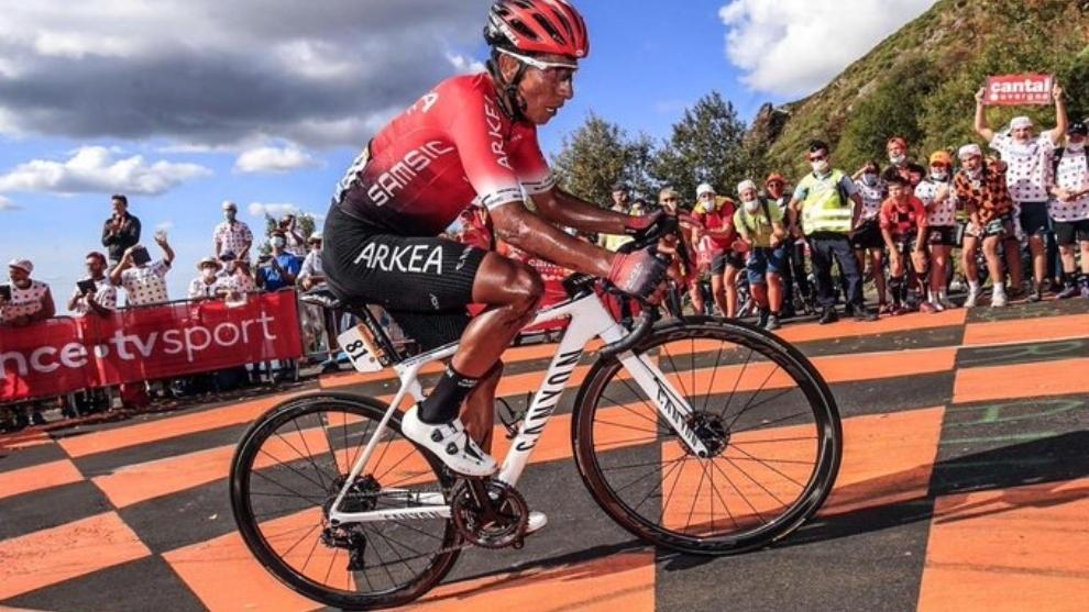 Nairo Quintana, en la tercera etapa del Tour de Francia.