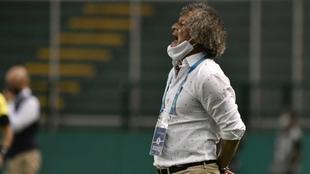 Alberto Gamero, durante el partido contra el Deportivo Cali.
