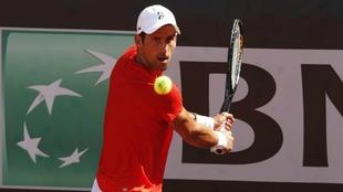 Novak Djokovic, en el abierto de Roma.