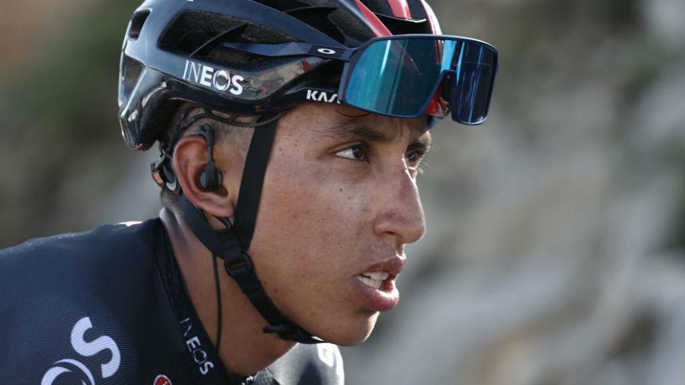 Egan Bernal, en un momento de la 15ª etapa del Tour de Francia 2020