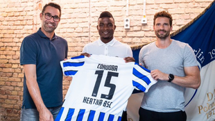 Jhon Córdoba lucirá el dorsal 15 en el Hertha.